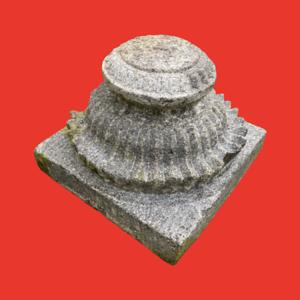 Carved Granite Planter Pedestal