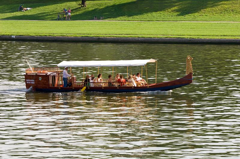 Poland, Cracow, Vistula River, tourist boat trip