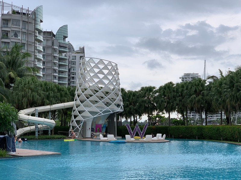 W Sentosa Hotel Pool Slide