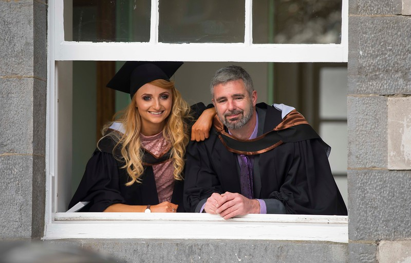 02/11/2016. Waterford Institute of Technology (WIT) Conferring Ceremonies November 2016:  Pictured are Cousins Rachel and Morgan Prout from Clonmel, Co. Tipperary who graduated BSc. (Hons) in Psychiatric Nursing. Picture: Patrick Browne