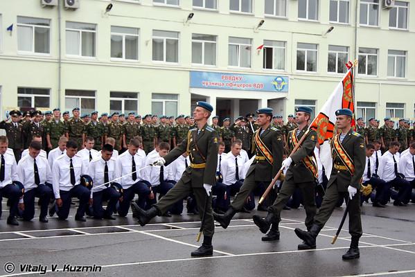 Ceremony of lieutenants graduation 2009 in Ryazan Higher Military Airborne School