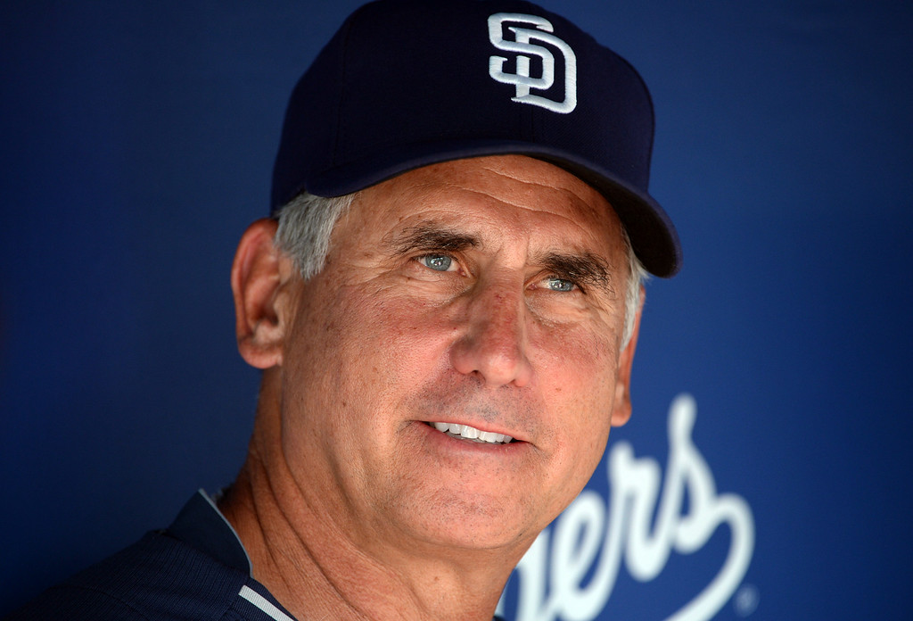 . San Diego Padres manager Bud Black prior to a Major league baseball game between the San Diego Padres and the Los Angeles Dodgers on Saturday, July 12, 2014 in Los Angeles.   (Keith Birmingham/Pasadena Star-News)