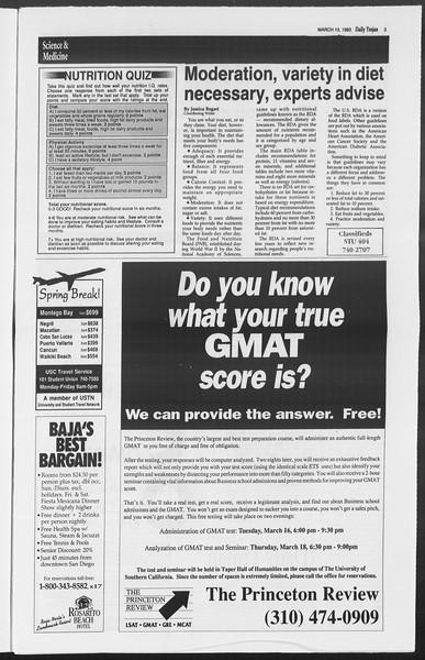 Daily Trojan, Vol. 119, No. 38, March 10, 1993