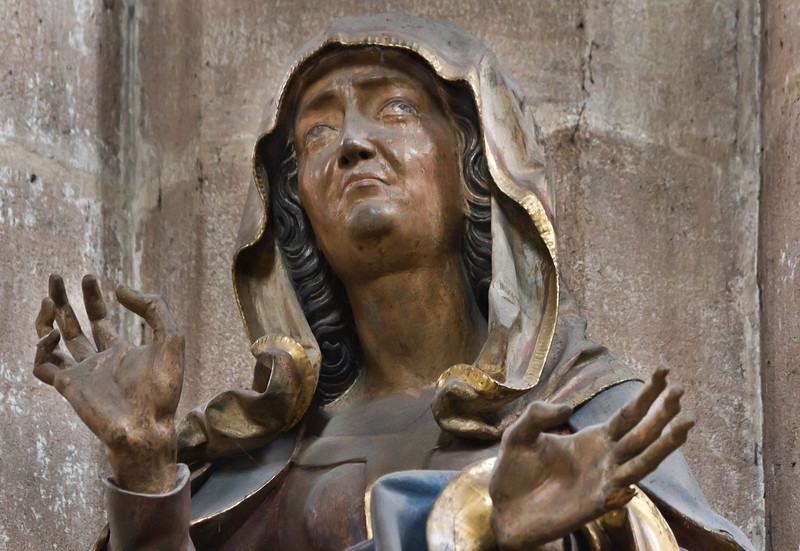 Nürnberg. St. Sebald: Maria der Kreuzigungsgruppe, Detail