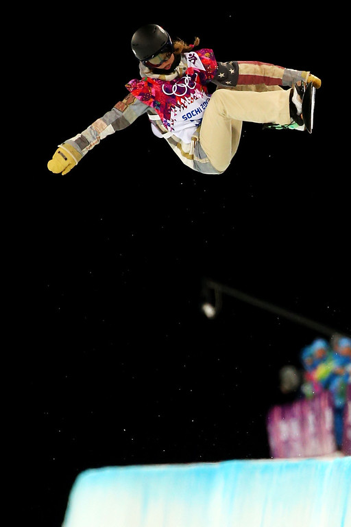 . Kaitlyn Farrington of the United States competes in the Snowboard Women\'s Halfpipe Semifinals on day five of the Sochi 2014 Winter Olympics at Rosa Khutor Extreme Park on February 12, 2014 in Sochi, Russia.  (Photo by Mike Ehrmann/Getty Images)
