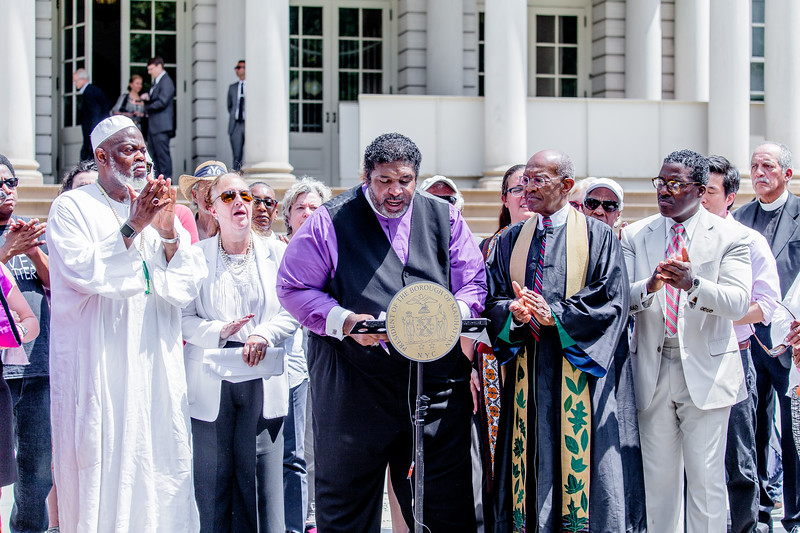 Reverend Barber speaking outside NY City Hall this morning.jpg