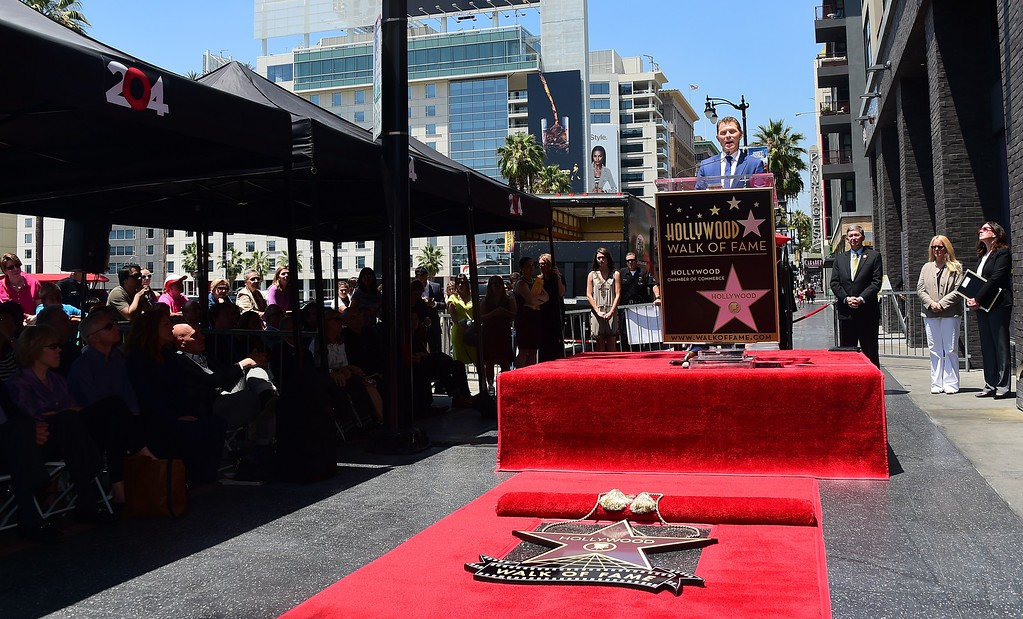 . Chef Bobby Flay speaks during his Hollywood Walk of Fame Star ceremony on June 2, 2015, in Hollywood, California. Flay is the first television chef to be accorded the honor.        (FREDERIC J. BROWN/AFP/Getty Images)