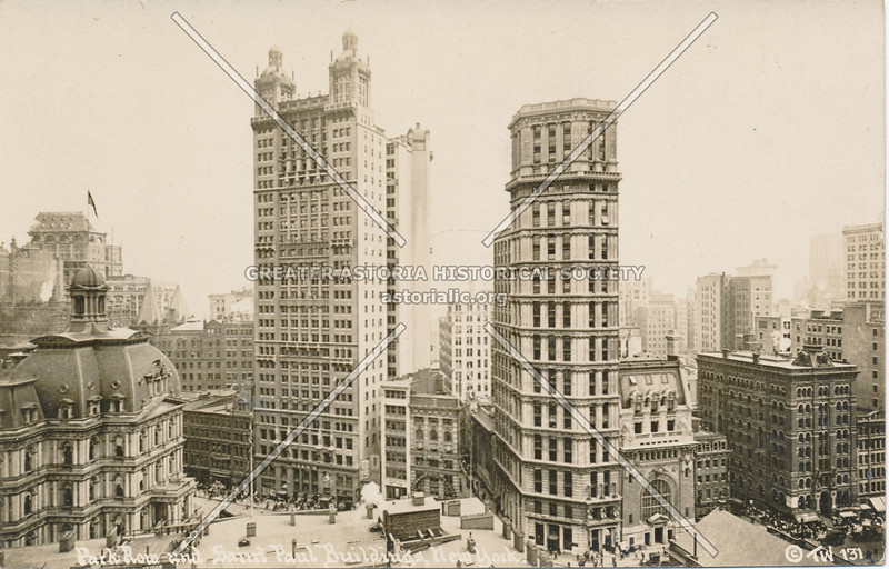 Park Row & Saint Paul Buildings, N.Y.