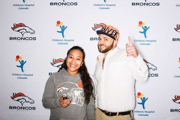 Phillip Lindsay of the Denver Broncos at Children's Hospital Colorado