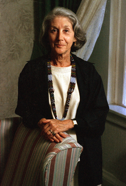 . South African author Nadine Gordimer poses following an interview in New York Nov. 13, 1990. ( AP Photo/Wyatt Counts)