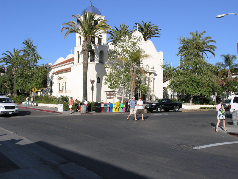 Church of the Immaculate Conception. Begun in 1868 by Father Antonio D. Ubach. Due to the boom that set in for the New San Diego, the church was not completed and dedicated until 1919. In 1925 it was formally transferred to the Order of Saint Francis, the same order as the Mission San Diego de Alcala in Presidio Park.