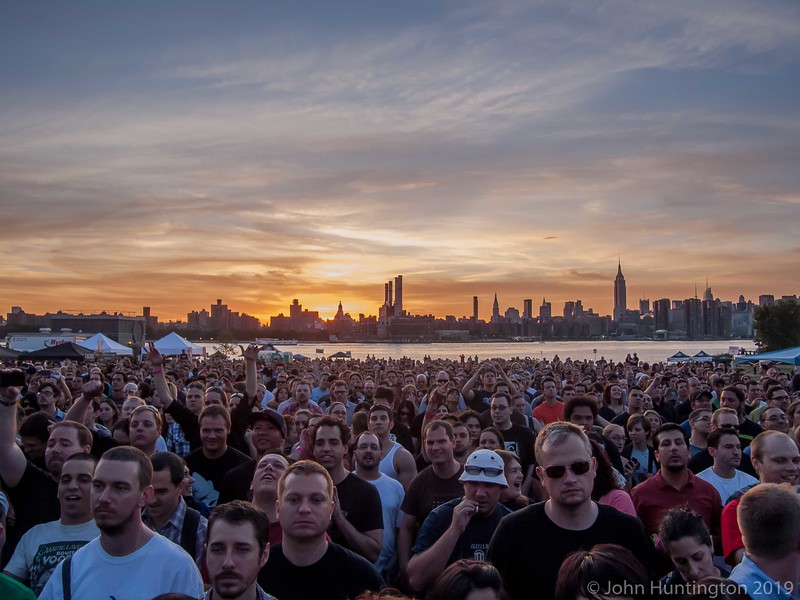 Concert Crowd at Sunset