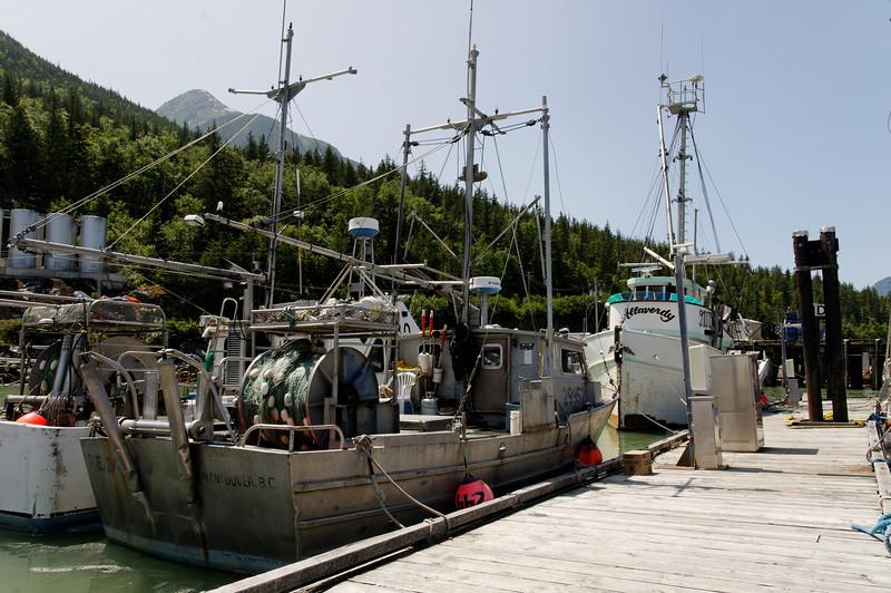 Fishing boats in Bella Coola, BC.
