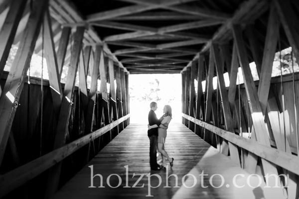 Lauren and Dustin B/W Engagement Photos