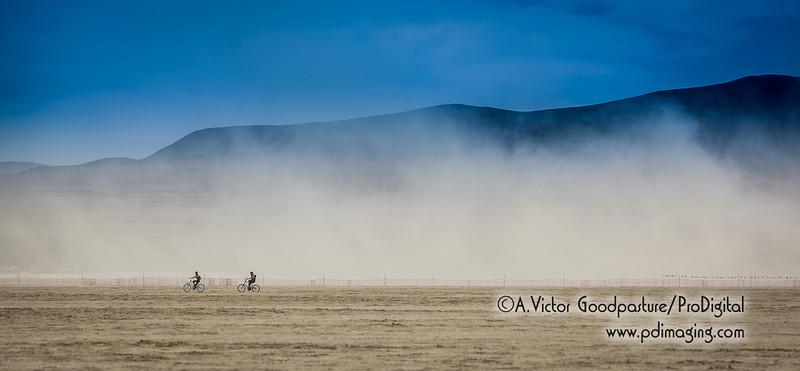 Dust versus bikes.