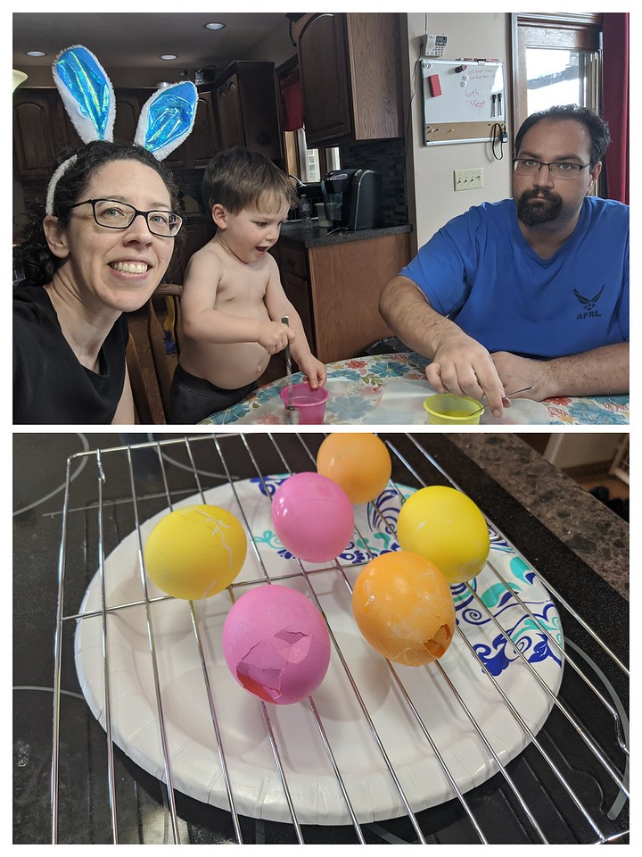 Coloring Easter Eggs, Apr. 12