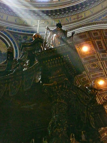 St. Peter's Basilica Statue sunlit