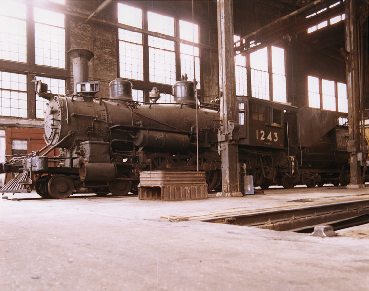 UP 4-6-0 1243, Cheyenne. September 13, 1969. <i>(Dean Gray Photo)</i>