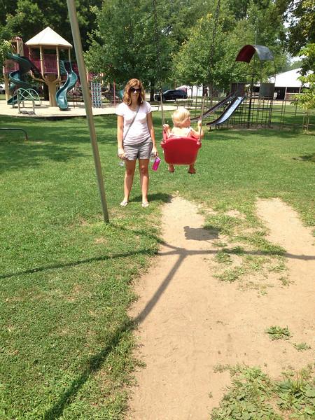 Winamac town park.  Reinholt Reunion.
