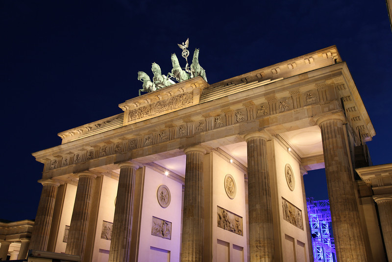 The Brandenburg Gate is the symbol of Germany (HDR)