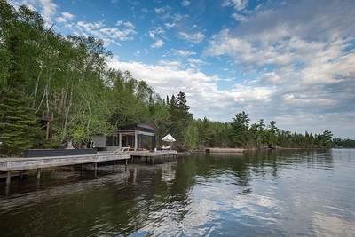Cottage Exterior and Docks