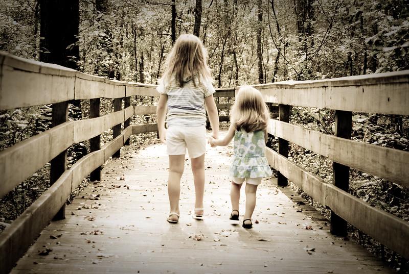 Bella and Brynn Walking