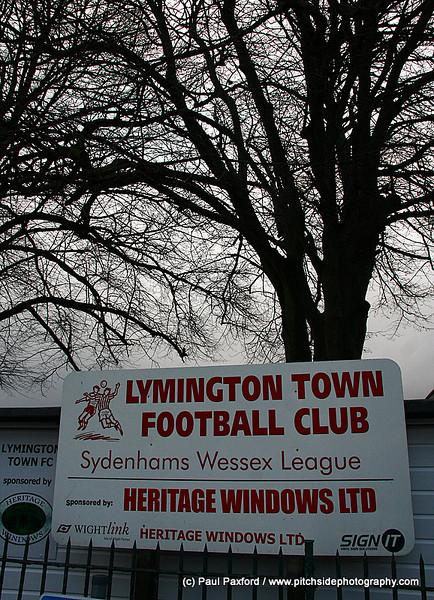 Lymington Town 0 Christchurch 4  Wessex League  22/1/11