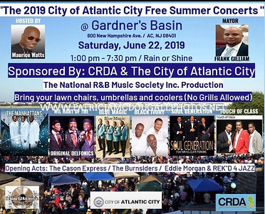 THE 2019 CITY OF ATLANTIC CITY FREE SUMMER CONCERT @ GARDNER'S BASIN
