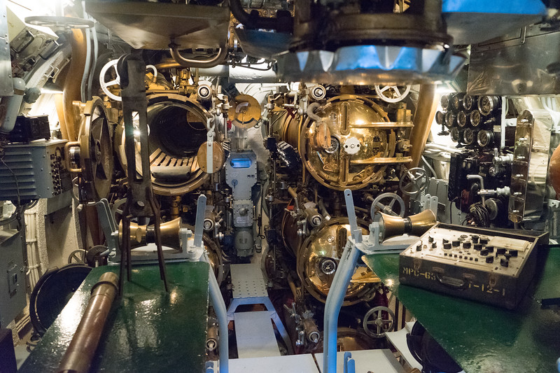 Six tubes in the forward torpedo room of the USS Drum