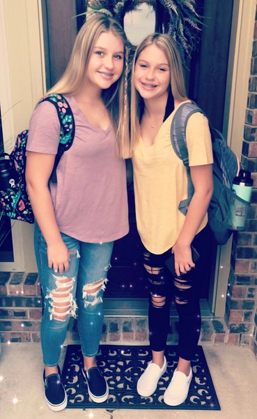 Addison & Hadlee | 7th grade | Running Brushy Middle School