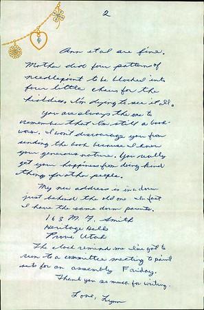 Lynn Baker Summers letters