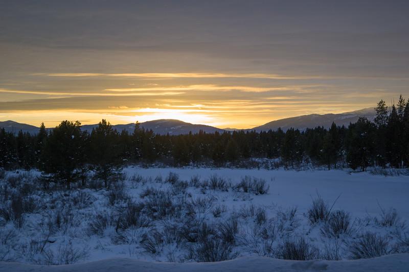 Sunset Near W. Yellowstone, MT