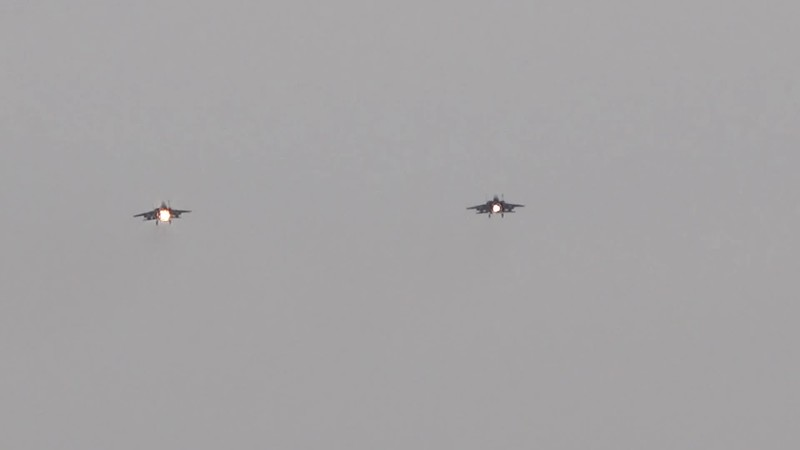 3-27-18...four F-15s returning from late day sorties...LOW APPROACHES...OR D model with person in back (likely incentive flight)...hung out by Mike P's hangar