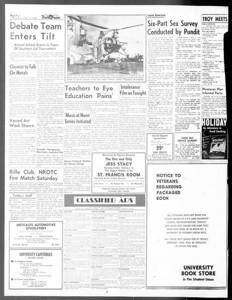 Daily Trojan, Vol. 40, No. 81, February 17, 1949