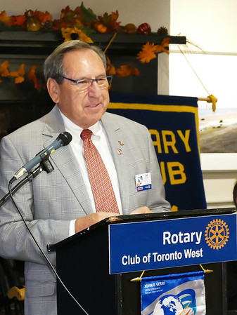 Rotary 7070 District Governor Jim Louttit Oct 6