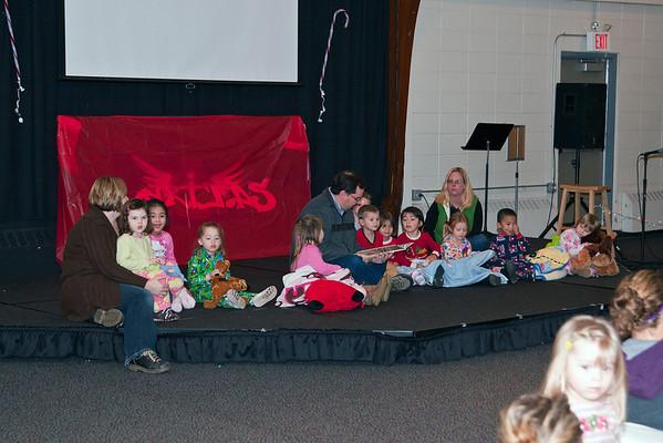 Kyrie's preschool PAJAMA Day
