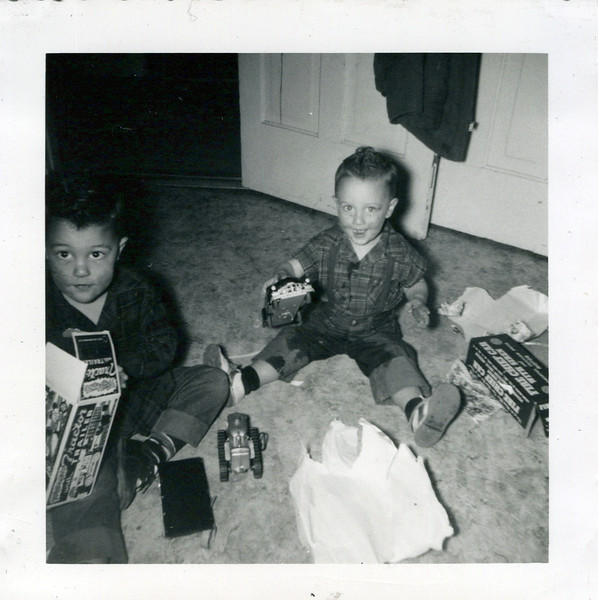 1952 Butch and Ken with presents (1).jpeg