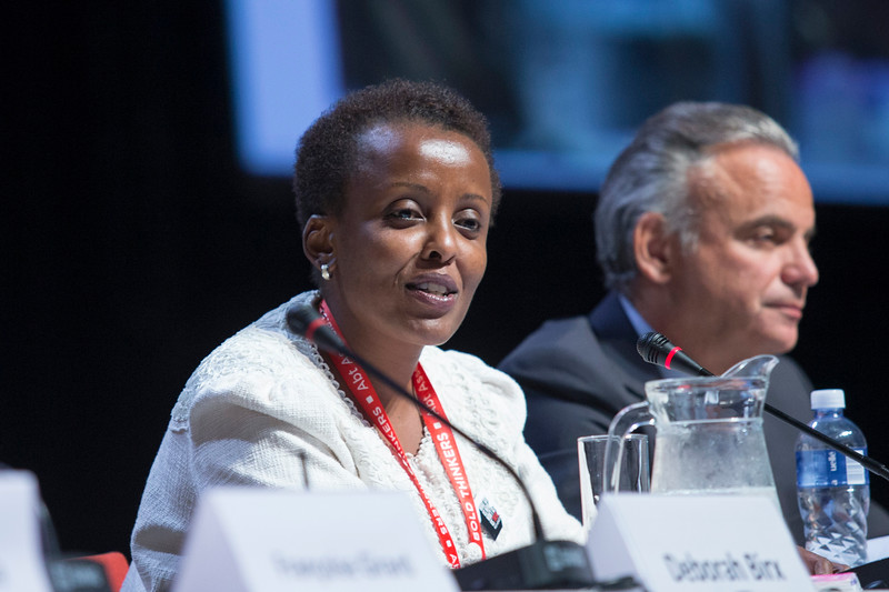 21st International AIDS Conference (AIDS 2016), Durban, South Africa. Turning the Tide for Adolescent Girls and Young Women: How Realizing Gender Equality and Securing Women's Human Rights are Essential for Reaching the End of AIDS (TUSY0603) Nduku Kilonzo, National AIDS Control Council of Kenya speaks, 19 July, 2016. Photo©International AIDS Society/Rogan Ward