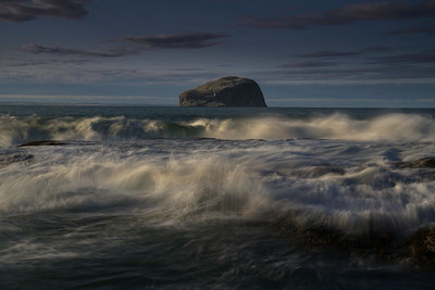 Seacliff beach with views to Tantallon and Bass rock.