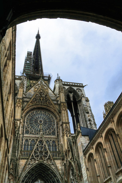 Rouen, France where Jeanne D'Arc met fire