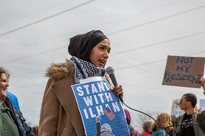 Stand With Ilhan, Burnsville, MN, April 15