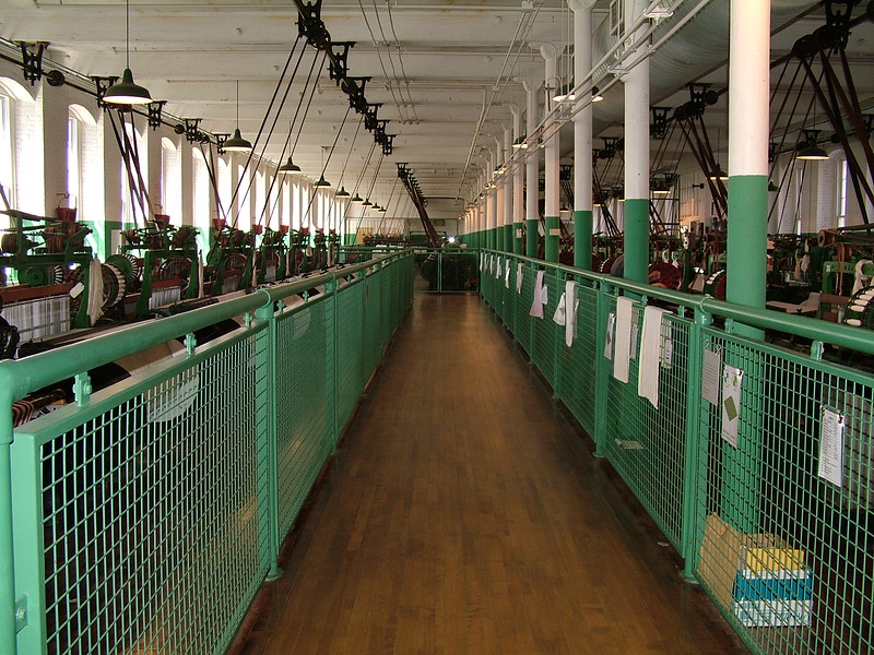 Weaving Room - Boott Cotton Mills - Lowell, MA