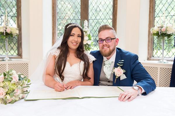 Charlotte & John Wedding at Clearwell Castle  (Print )