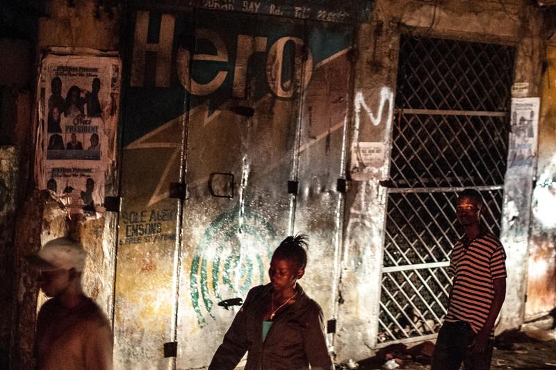 Blackout in Freetown, Sierra Leone