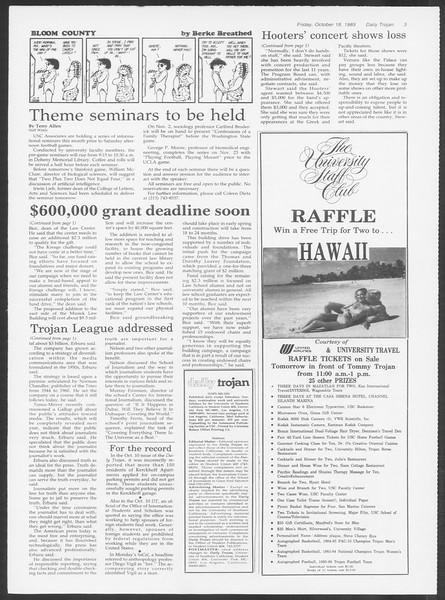 Daily Trojan, Vol. 100, No. 34, October 18, 1985