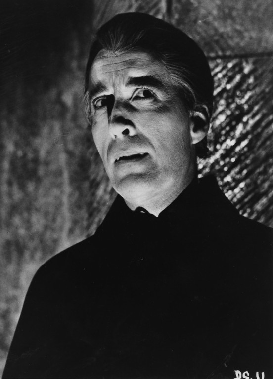 . 1968:  Christopher Lee as Dracula, from the film \'Dracula Has Risen From The Grave\', directed by Freddie Francis for Hammer.  (Photo by Keystone/Getty Images)