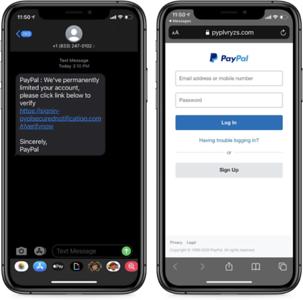 Utilizadores de PayPal alvo de campanha de phishing através de SMS