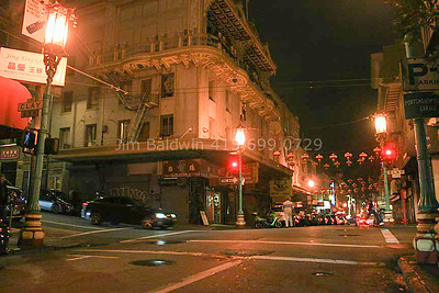 Chinatown Area, Grant and Waverly, Night