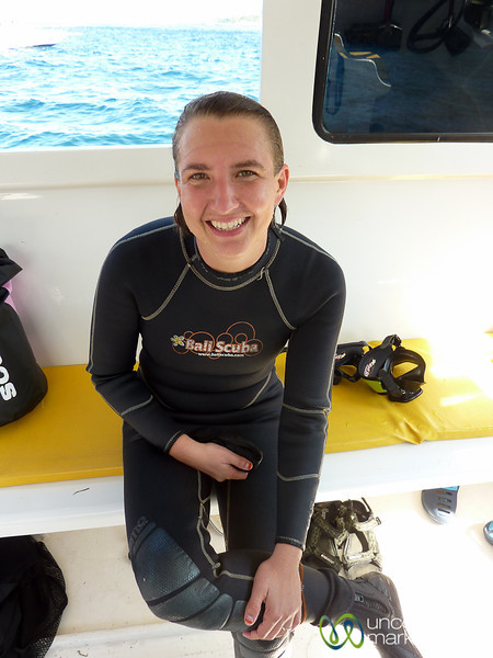 Audrey Scuba Dives at Nusa Penida - Bali, Indonesia