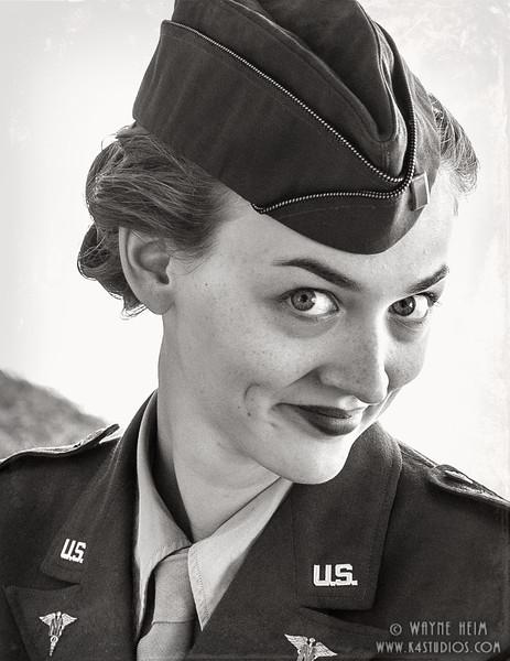 Army Gal     Photography by Wayne Heim